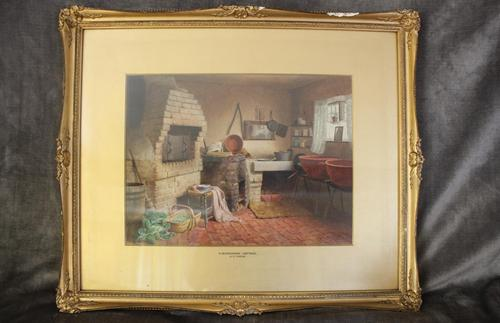 Antique Original Watercolour - A Devonshire Cottage - Henry Tozer 1864-1938 (1 of 11)