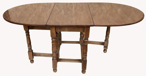 Good Quality Solid Oak Drop Leaf Table (1 of 6)