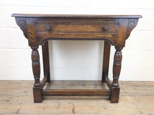 Early 20th Century Antique Oak Side Table (1 of 10)