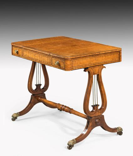 Regency Period Maple & Burr Maple Games Table (1 of 5)