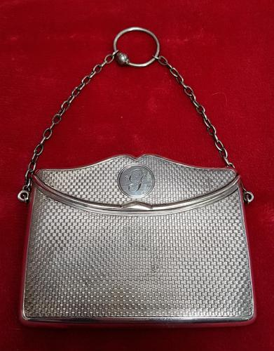 Antique Sterling Silver Hinged Lidded Purse / Card Case (1 of 4)