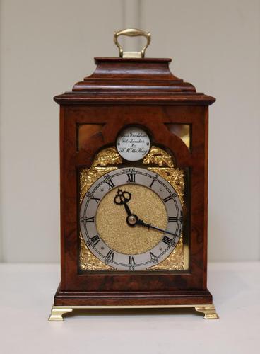Miniature Walnut Bracket Clock by Clockmaker ro the King (1 of 11)