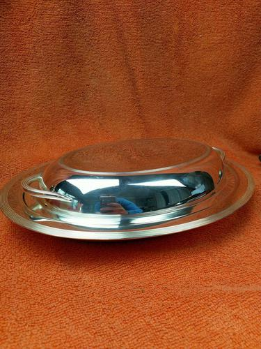 Antique Silver Plate James Dixon & Son Art Deco Serving Dish & Lid C1920 (1 of 10)
