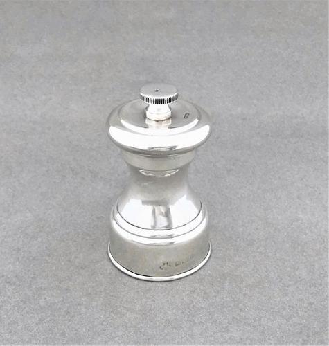Handsome all silver pepper grinder (1 of 5)