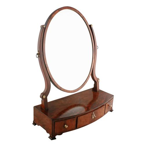 Georgian Bow Front Dressing Mirror (1 of 8)
