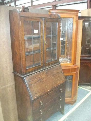 Lead Glazed Bureau Bookcase (1 of 2)
