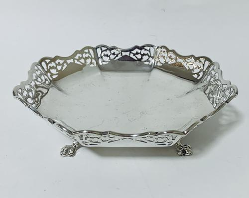 Large Antique Solid Silver Bonbon Dish (1 of 10)