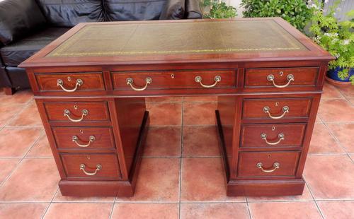 Howard & Sons Double Pedestal Desk c.1890 (1 of 13)