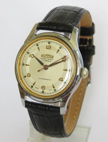 Gents 1950s Roamer Super-Shock wrist watch (1 of 4)