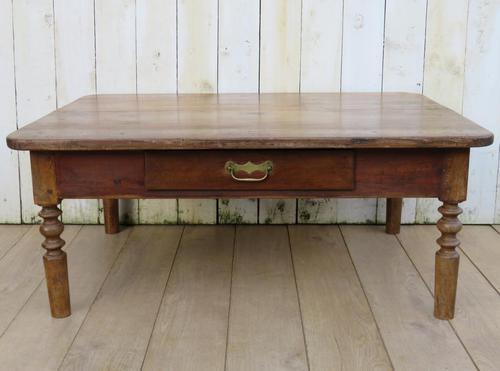 Antique Oak & Pine Coffee Table (1 of 7)