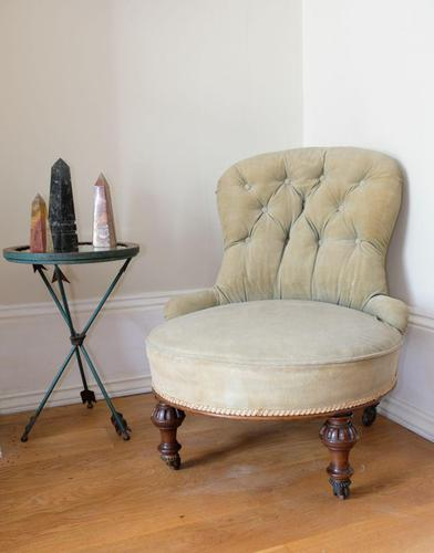 Late 19th Century Button Back Nursing Chair (1 of 10)