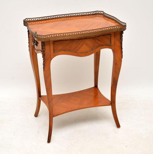 Antique French King Wood Side Table (1 of 9)
