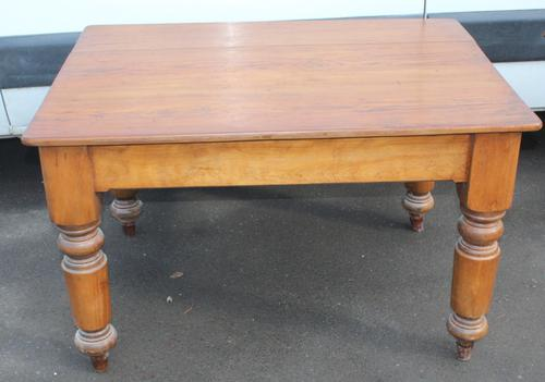 1900's Small Country Pine Kitchen Table Stand (1 of 3)