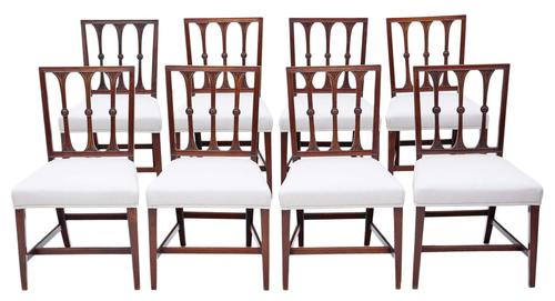 Set of 8 Georgian Mahogany Dining Chairs 19th Century C1820 (1 of 7)