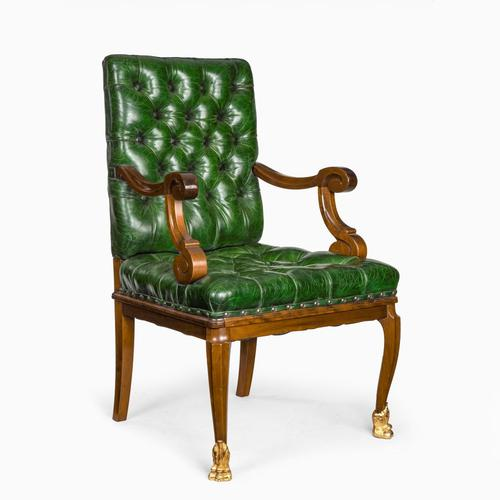 A French mahogany desk chair (1 of 6)