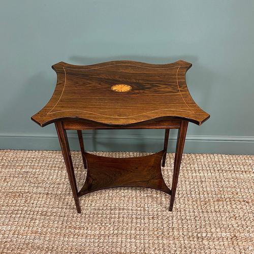 Elegant Inlaid Rosewood Antique Occasional Table (1 of 5)