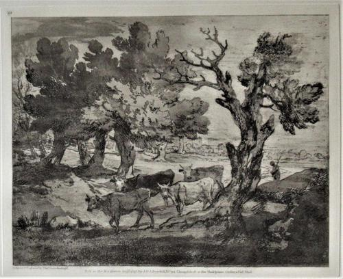Original Print by & After Thomas Gainsborough, One of a Limited 1971 Edition of 75 (1 of 7)