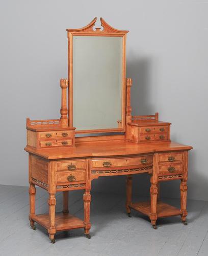 Antique 'John Taylor of Edinburgh' Satinwood Dressing Table (1 of 12)