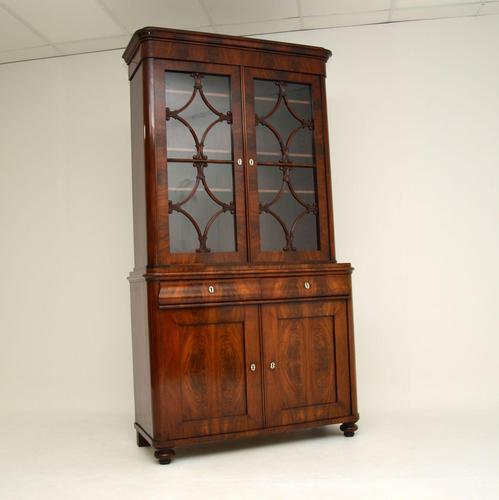 Antique French Walnut Bookcase on Cupboard (1 of 11)