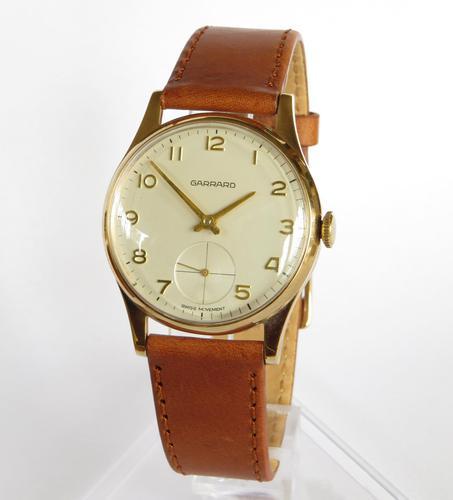 Gents 9ct Gold Wrist Watch for Garrard - 1974 (1 of 5)