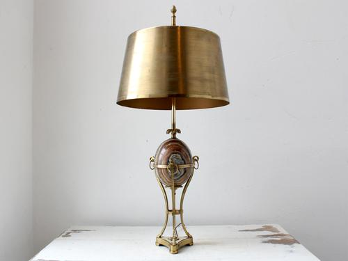 Mid-Century Marble Egg Table Lamp Attr. Maison Charles (1 of 8)