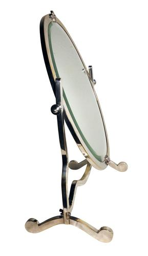 Plated Oval Dressing Table Mirror (1 of 3)