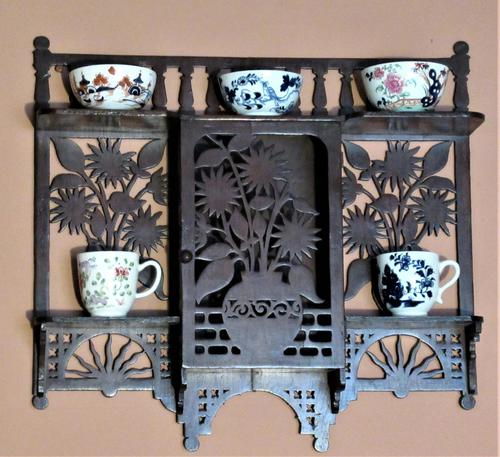 Small English Aesthetic Period Wall-hanging Cabinet in Japanese Style (1 of 4)
