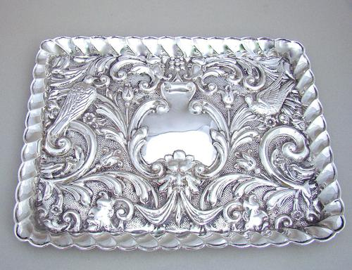 Edwardian Silver Dressing Table Tray by W. J. MYATT & CO, Chester 1905 (1 of 4)