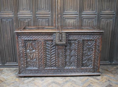 Antique Gothic French Coffer (1 of 7)
