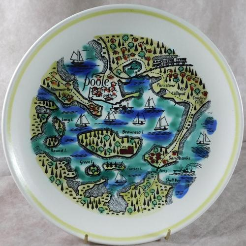 Poole Pottery, Poole Harbour Plate (1 of 3)