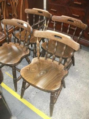 Set of 4 Spindle Back Chairs (1 of 1)