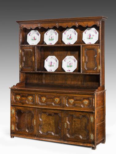 Mid 18th Century Oak Dresser & Rack (1 of 8)