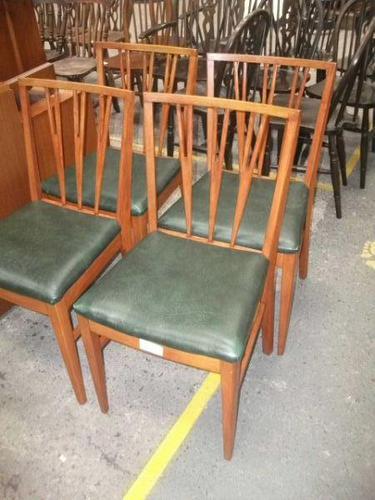 Set of 4 Retro Teak Dining Chairs (1 of 3)