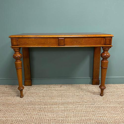 Stunning Victorian Oak Antique Console Table (1 of 7)