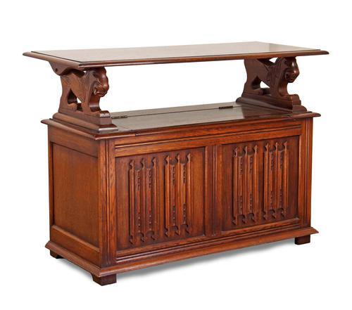 Jacobean Style Oak Monk's Bench (1 of 8)