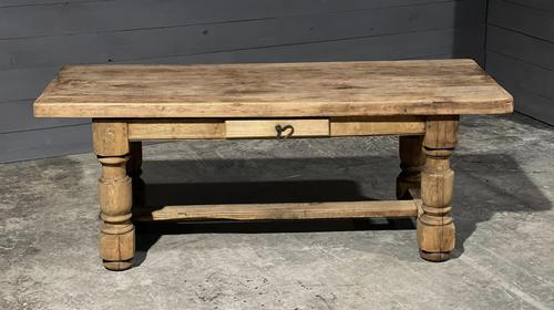 Rustic French Oak Farmhouse Kitchen Dining Table (1 of 16)