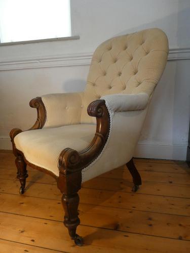 English Mid 19th Century Armchair (1 of 8)