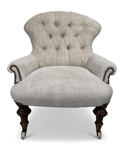 Early Victorian Button Back Armchair (1 of 6)