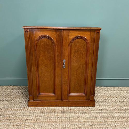 Beautifully Figured Victorian Walnut Antique Cupboard (1 of 7)