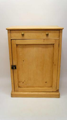 Victorian, rustic pine storage cupboard, drawer & shelves - refurbished (1 of 15)