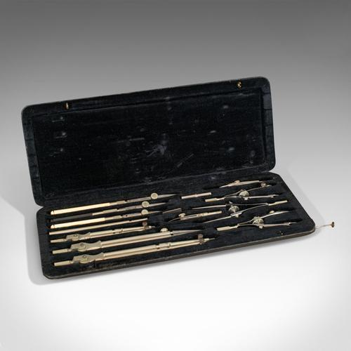 Antique Technical Drawing Set, German, Cartographer's Instruments, Riefler, 1920 (1 of 7)