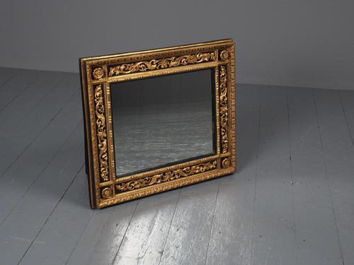 Antique Gilded & Ebonised Rectangular Wall Mirror (1 of 14)
