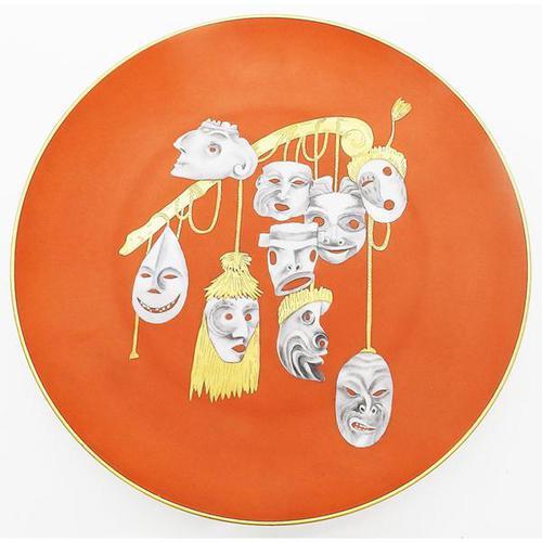 Rare Arrigo Finzi Art Pottery Surrealist Modernist Charger Salvador Dali 1940+ (1 of 7)