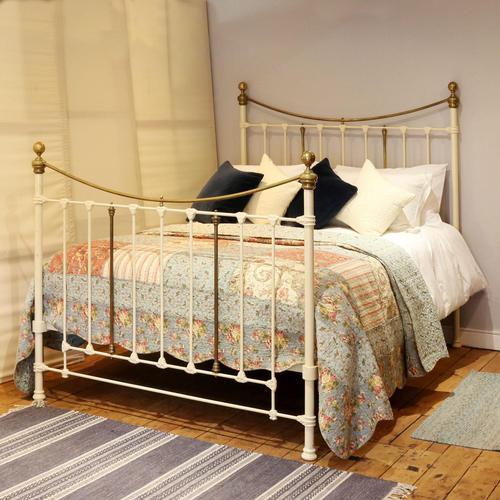 Decorative Victorian Antique Bed in Cream (1 of 6)
