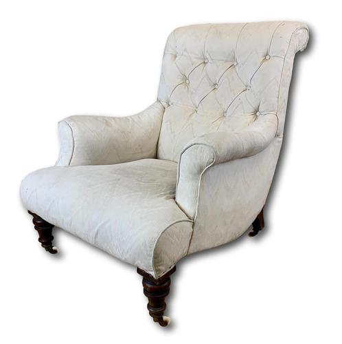 Beautifully Shaped English Armchair (1 of 6)