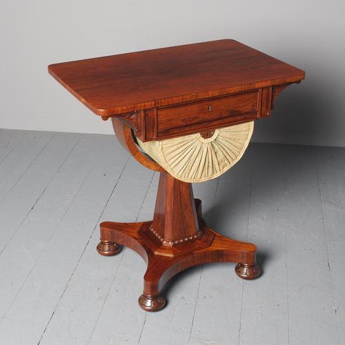 Antique William IV Rosewood Work Table (1 of 9)