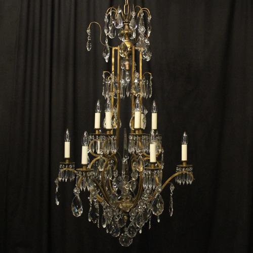 French Gilded Birdcage Antique Chandelier (1 of 10)
