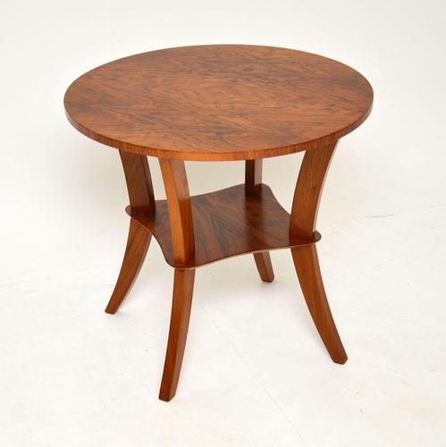 Art Deco Figured Walnut Coffee / Occasional Table (1 of 5)