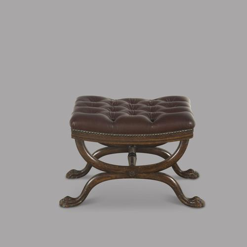 Regency Leather Footstool (1 of 3)