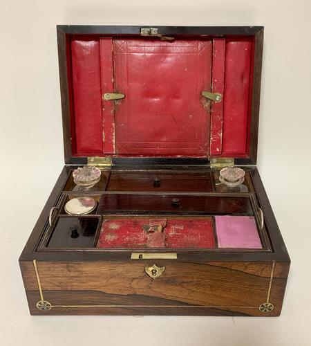 Victorian Rosewood Inlaid Vanity Box (1 of 14)